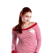 Dámské námořnické tričko, barva malinová červená